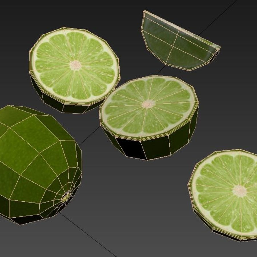 Green Lime royalty-free 3d model - Preview no. 5