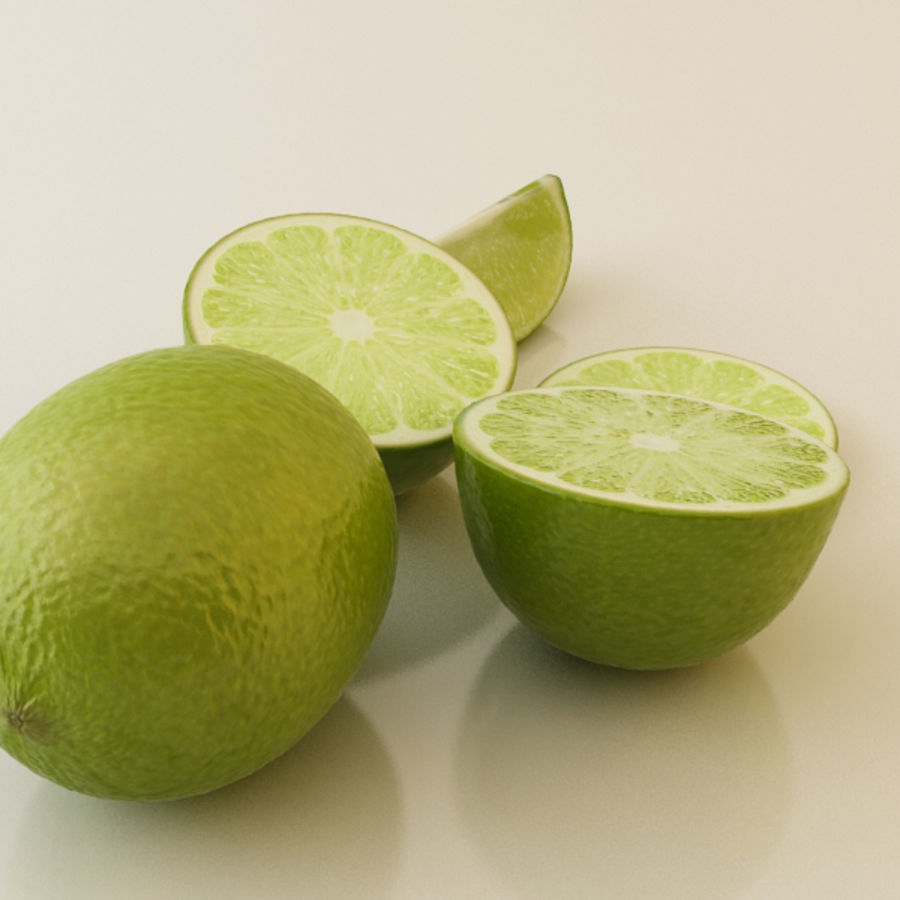 Green Lime royalty-free 3d model - Preview no. 2