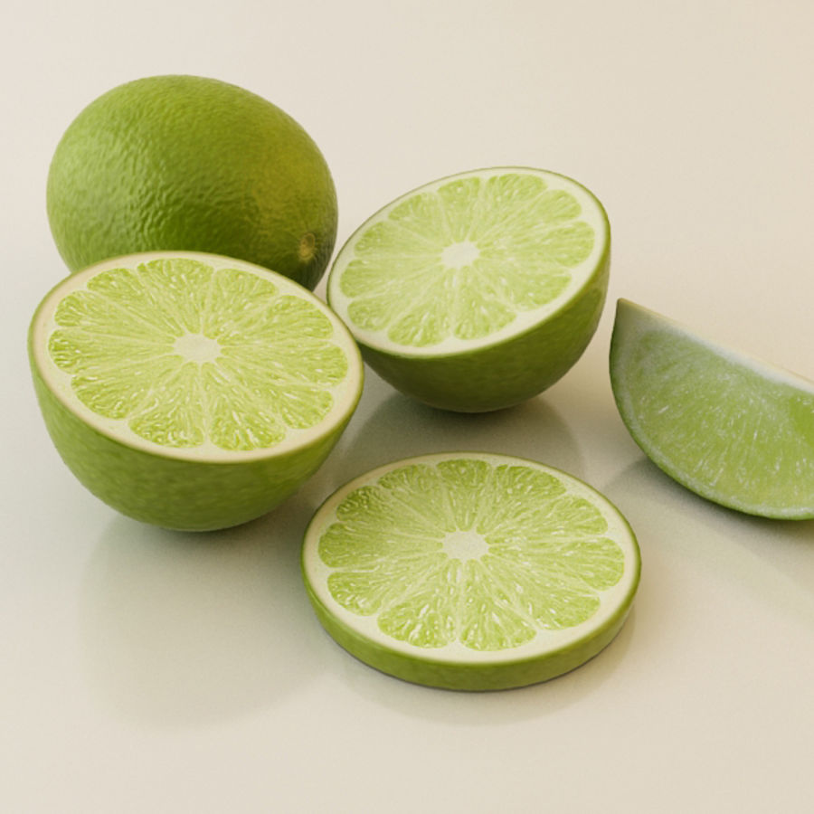 Green Lime royalty-free 3d model - Preview no. 1