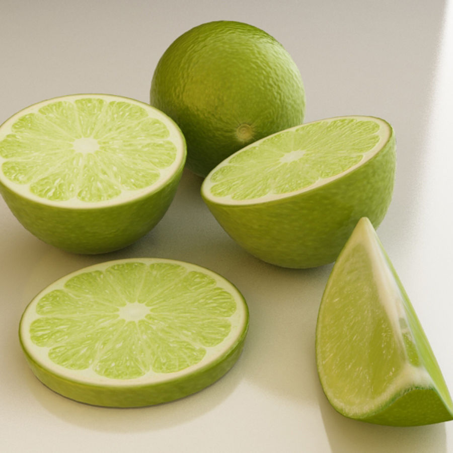 Green Lime royalty-free 3d model - Preview no. 3