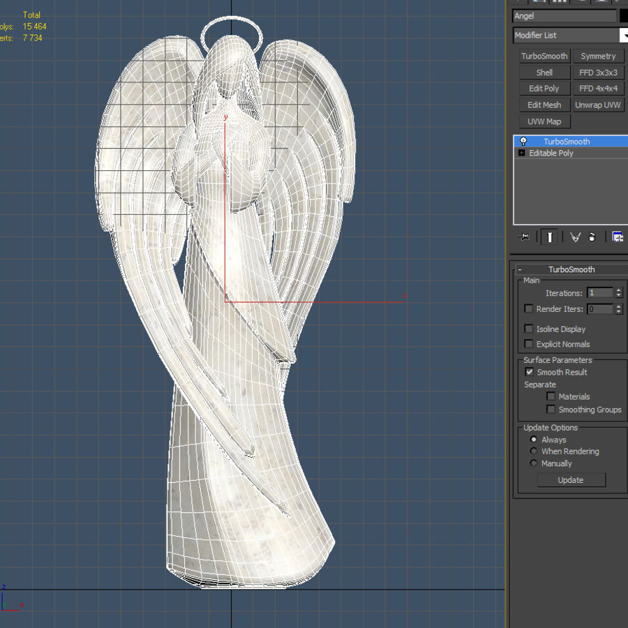 Angel royalty-free 3d model - Preview no. 7