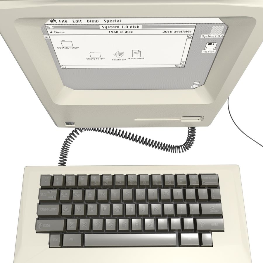 Old Computer royalty-free 3d model - Preview no. 4