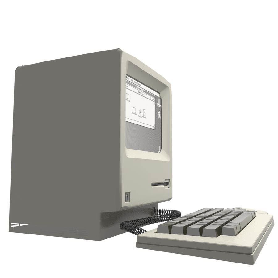 Old Computer royalty-free 3d model - Preview no. 3