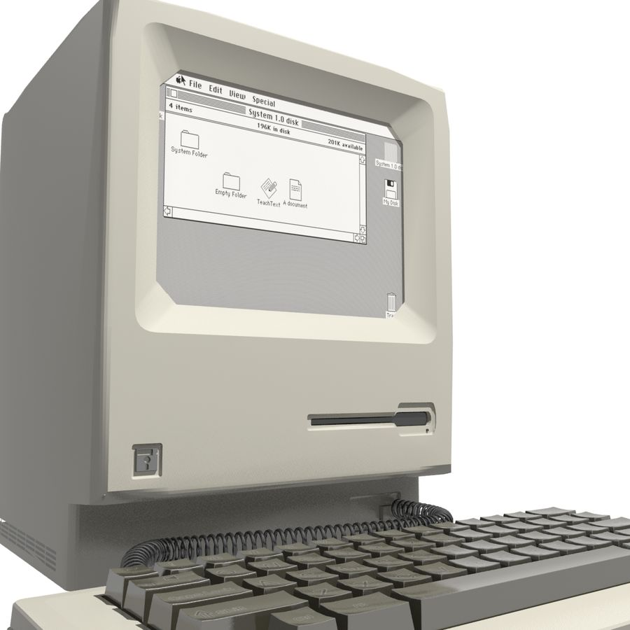 Old Computer royalty-free 3d model - Preview no. 2