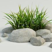 grass stone 3d model