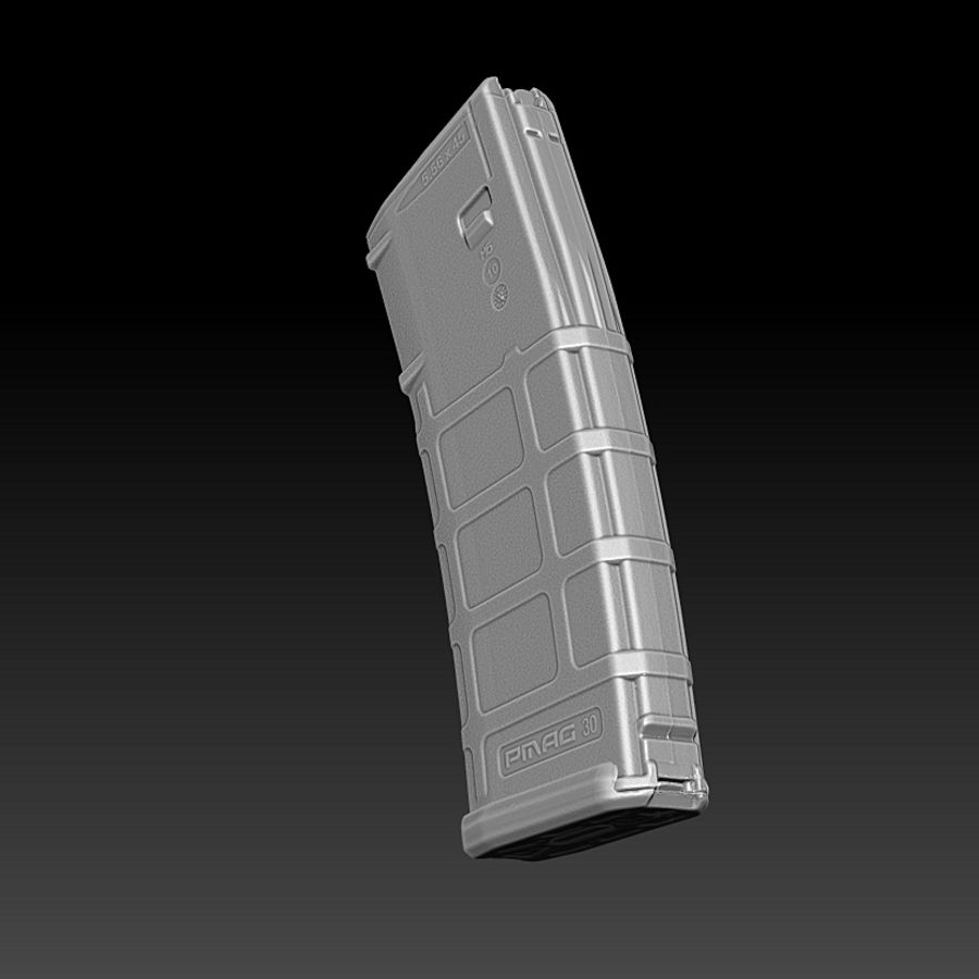 Magpul (PMAG 30) MAGAZINE royalty-free 3d model - Preview no. 3