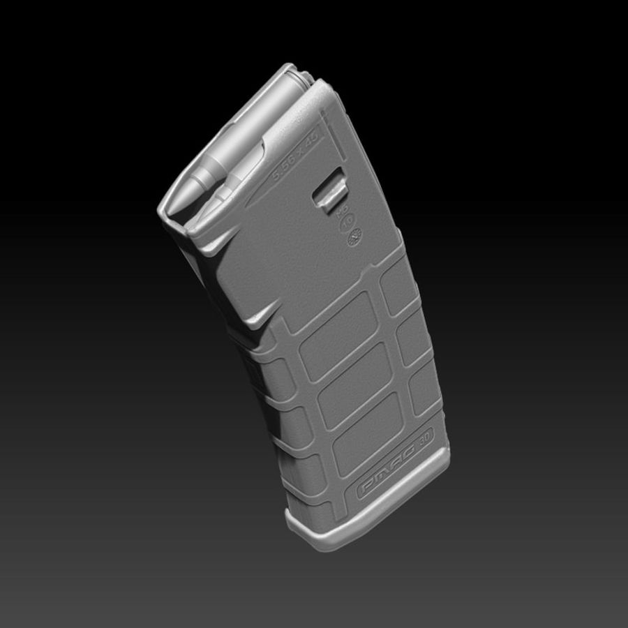 Magpul (PMAG 30) MAGAZINE royalty-free 3d model - Preview no. 6
