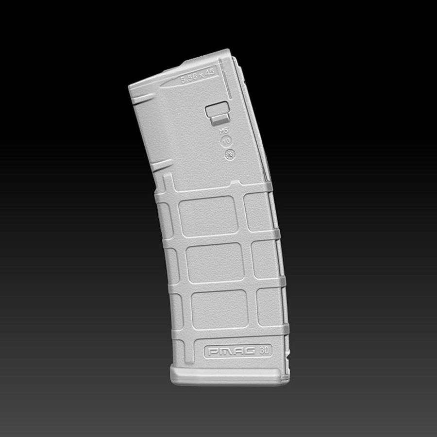 Magpul (PMAG 30) MAGAZINE royalty-free 3d model - Preview no. 2