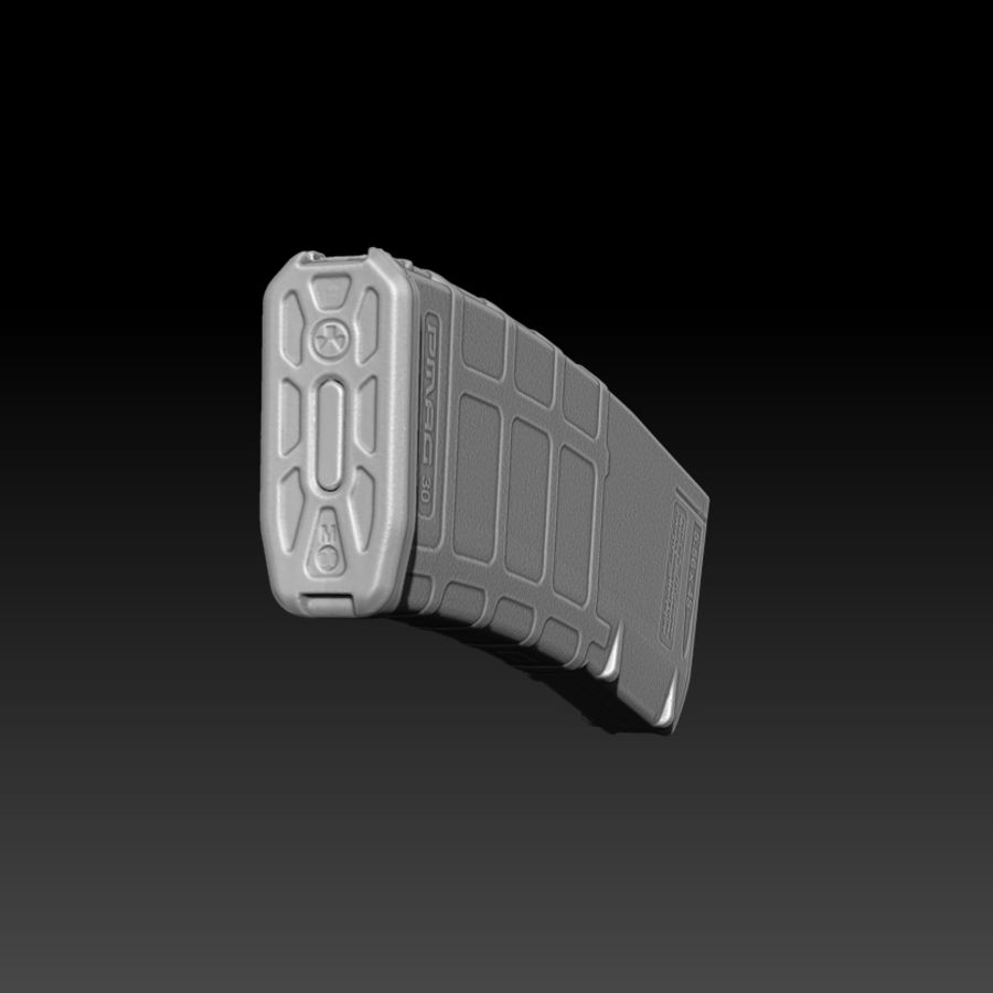 Magpul (PMAG 30) MAGAZINE royalty-free 3d model - Preview no. 5