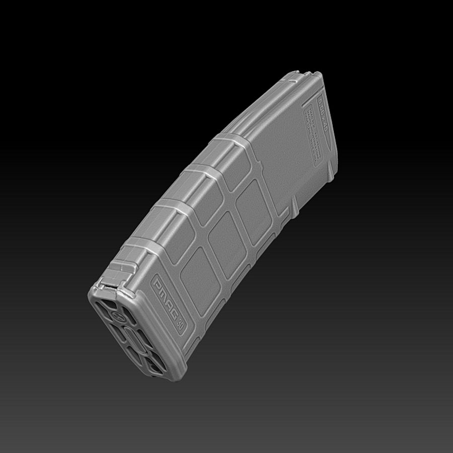Magpul (PMAG 30) MAGAZINE royalty-free 3d model - Preview no. 7