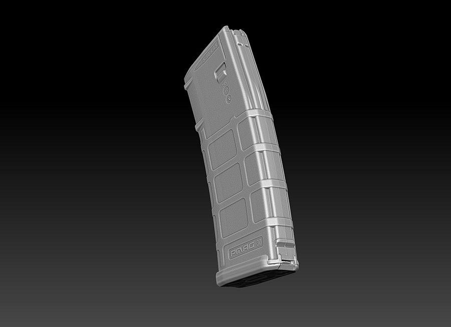マグプル(PMAG 30)マガジン royalty-free 3d model - Preview no. 3