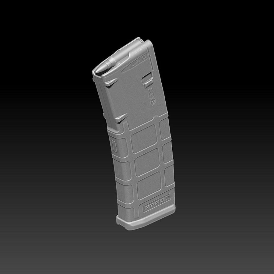 Magpul (PMAG 30) MAGAZINE royalty-free 3d model - Preview no. 1