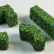 hedge topiary bush 3d model