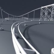Roller Coaster 3 3d model