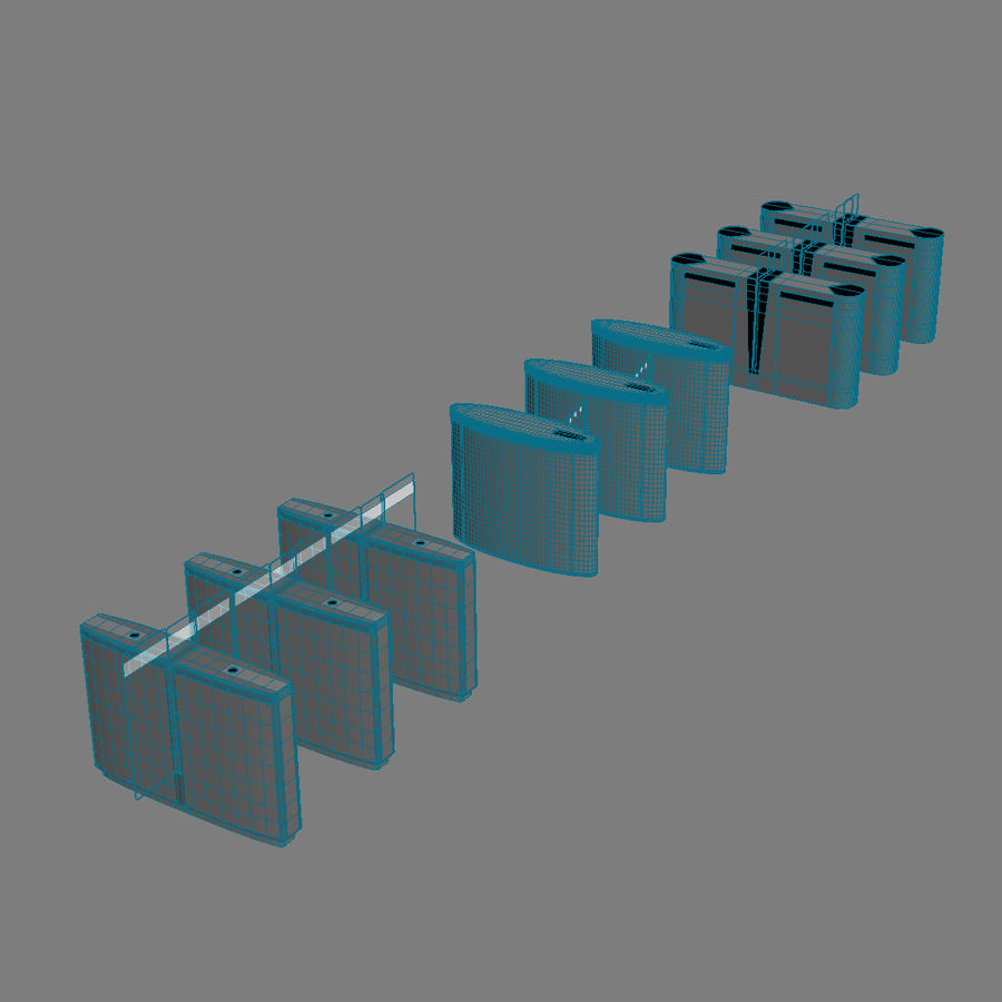 Turnstile Speedlane Selection royalty-free 3d model - Preview no. 8