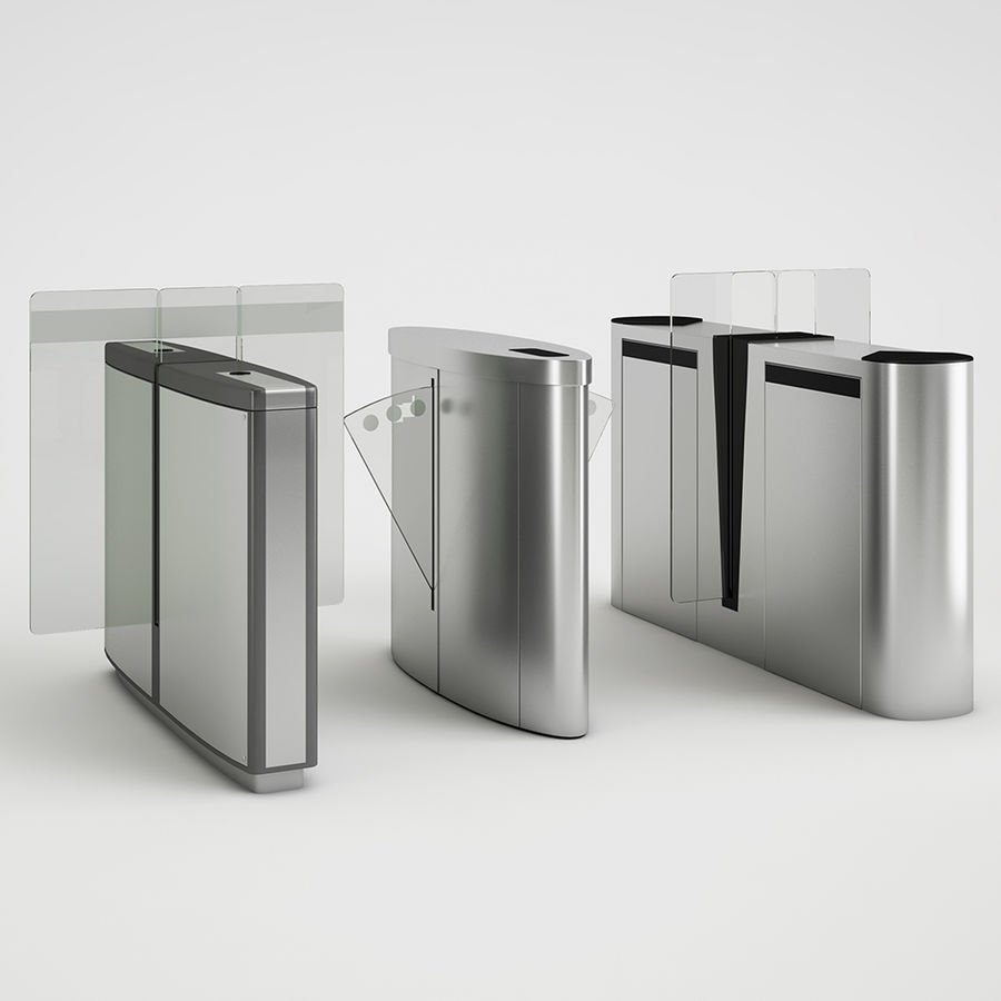 Turnstile Speedlane Selection royalty-free 3d model - Preview no. 1