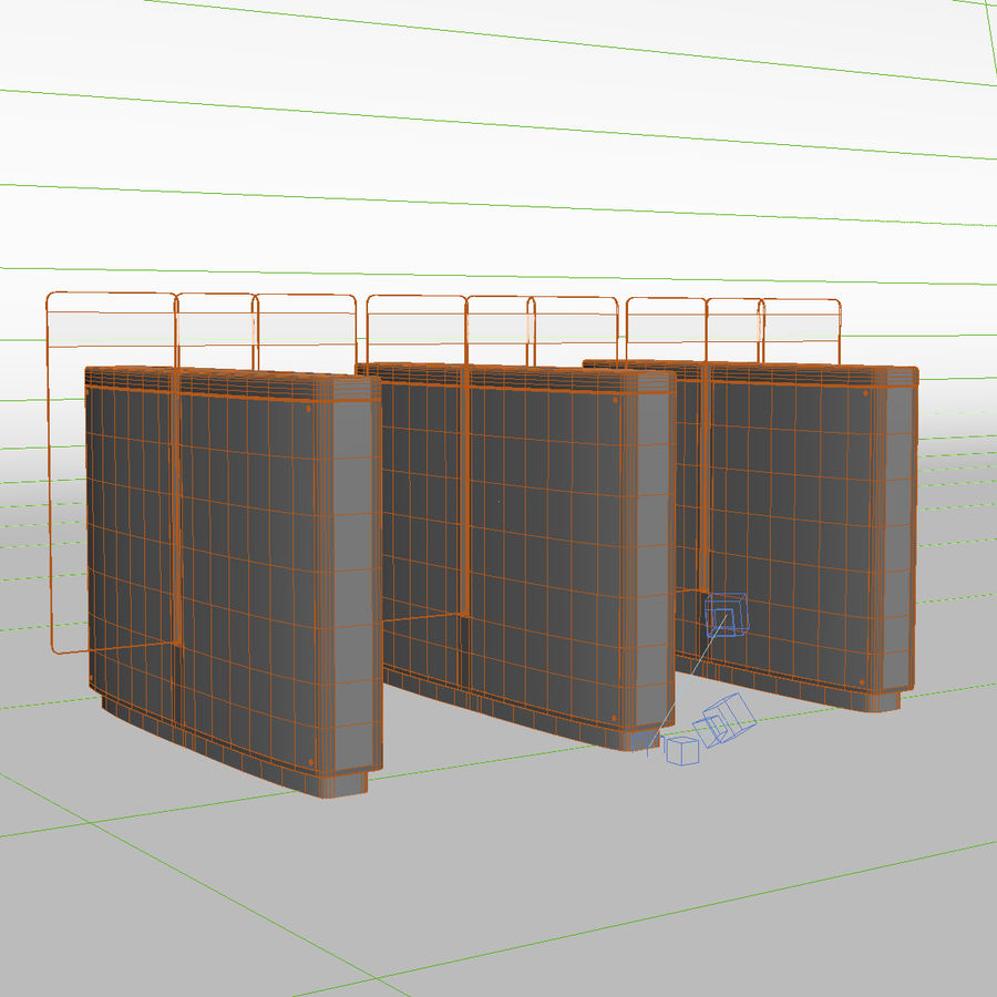 Turnstile Speedlane Selection royalty-free 3d model - Preview no. 5