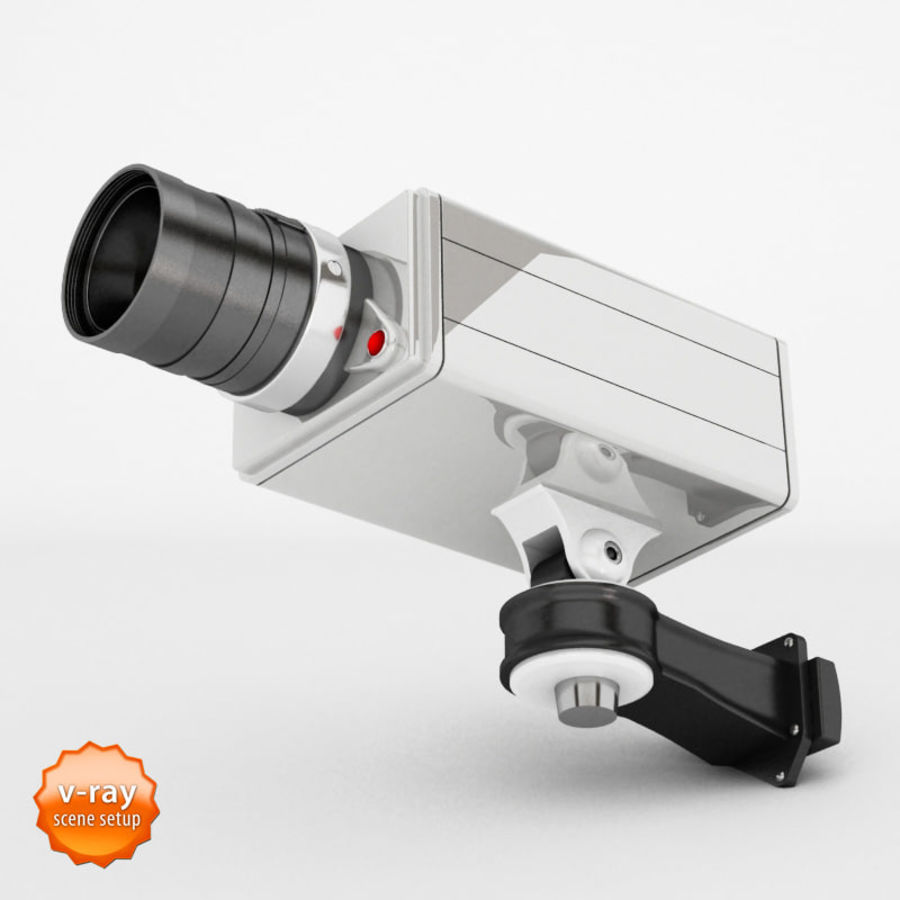 Security cameras royalty-free 3d model - Preview no. 3