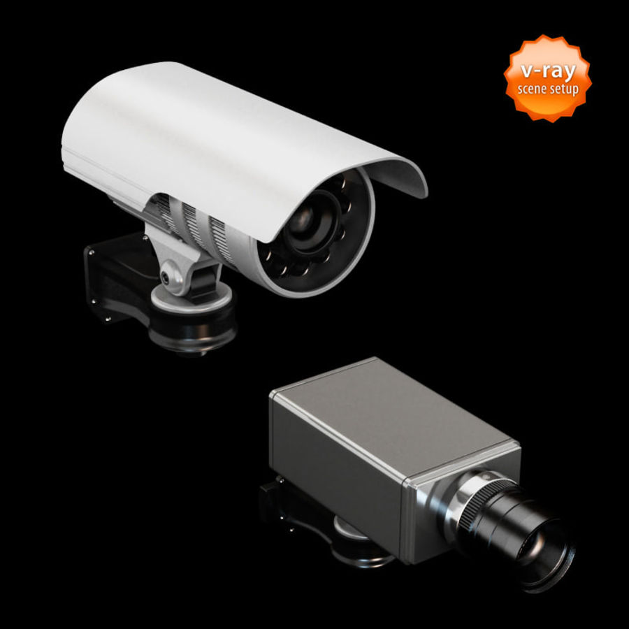 Security cameras royalty-free 3d model - Preview no. 4
