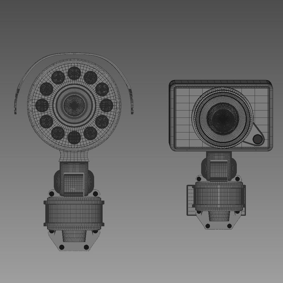 Security cameras royalty-free 3d model - Preview no. 8