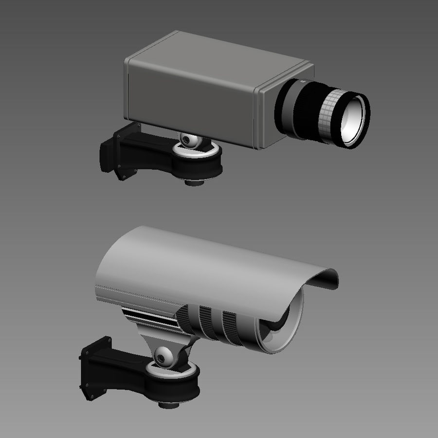 Security cameras royalty-free 3d model - Preview no. 6