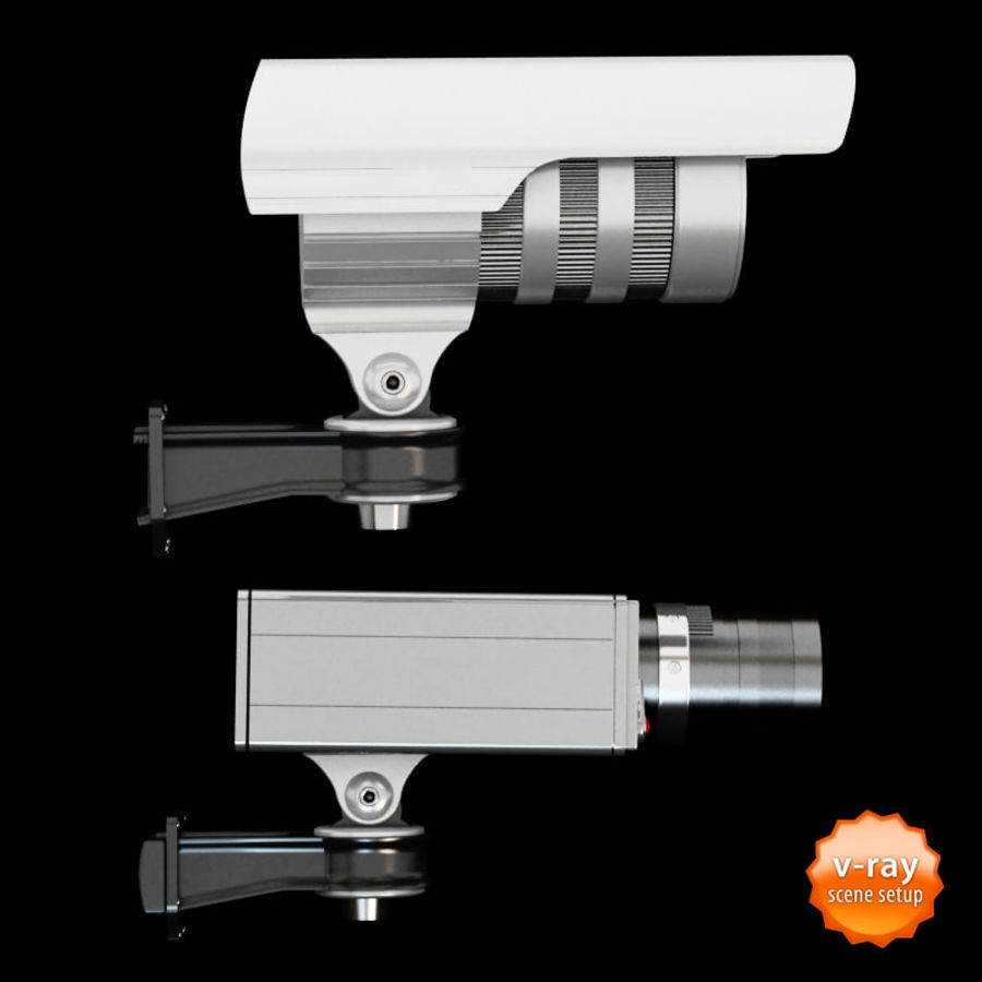 Security cameras royalty-free 3d model - Preview no. 5