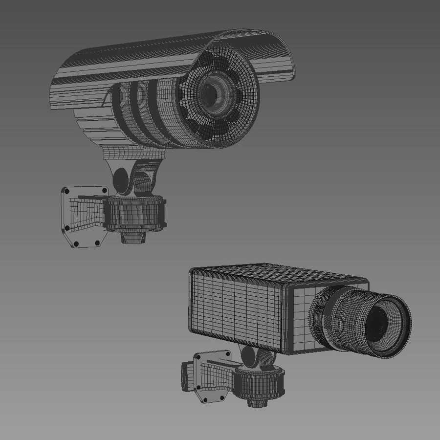 Security cameras royalty-free 3d model - Preview no. 9