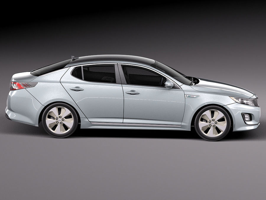Kia Optima Hybrid 2014 royalty-free 3d model - Preview no. 7