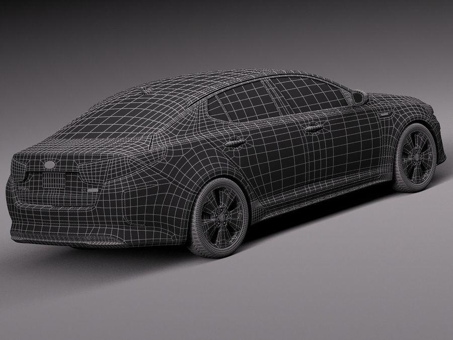 Kia Optima Hybrid 2014 royalty-free 3d model - Preview no. 16