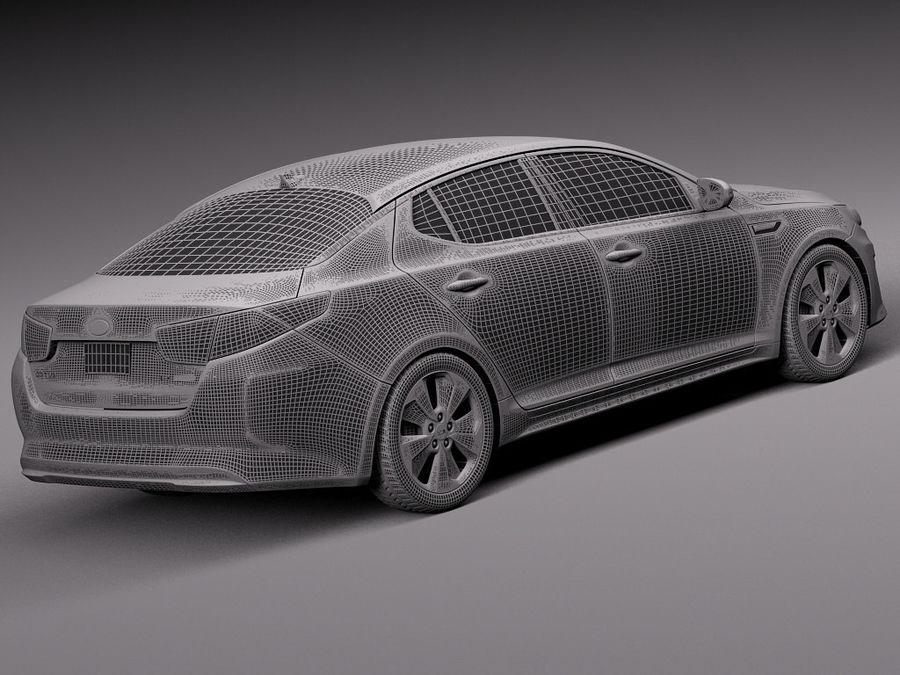 Kia Optima Hybrid 2014 royalty-free 3d model - Preview no. 14