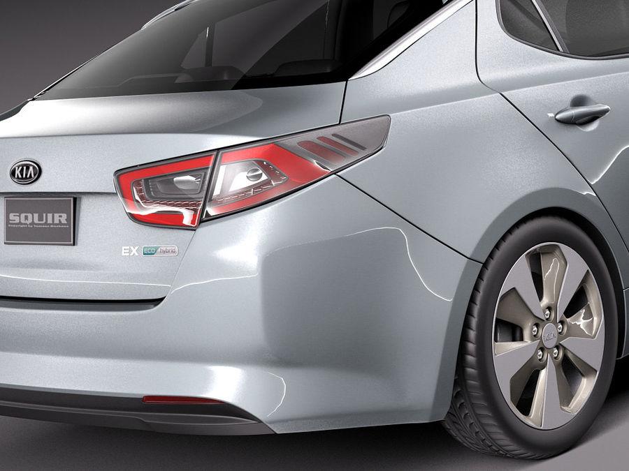 Kia Optima Hybrid 2014 royalty-free 3d model - Preview no. 4