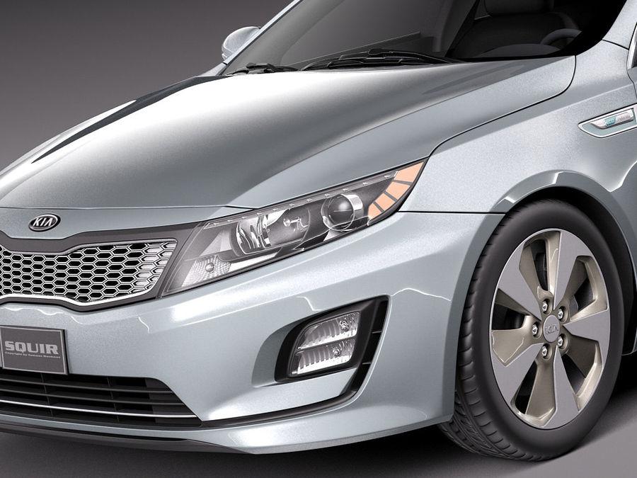 Kia Optima Hybrid 2014 royalty-free 3d model - Preview no. 3