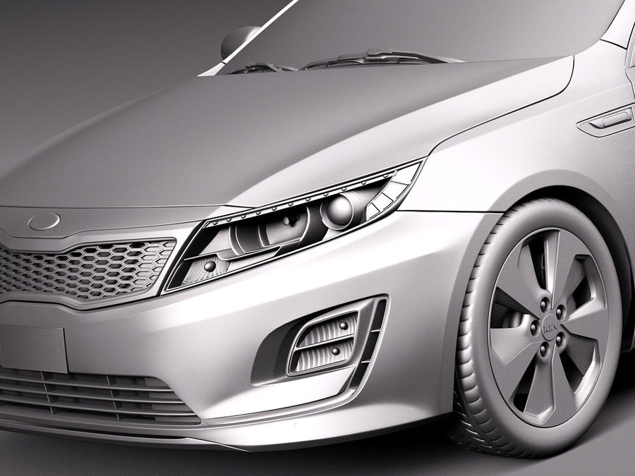 Kia Optima Hybrid 2014 royalty-free 3d model - Preview no. 10
