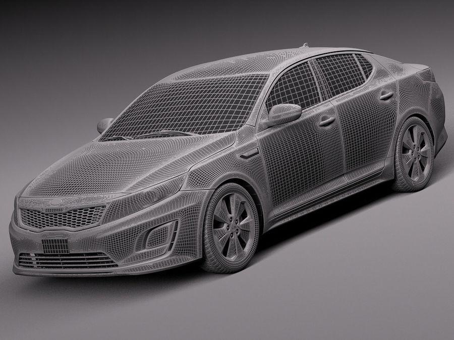 Kia Optima Hybrid 2014 royalty-free 3d model - Preview no. 13