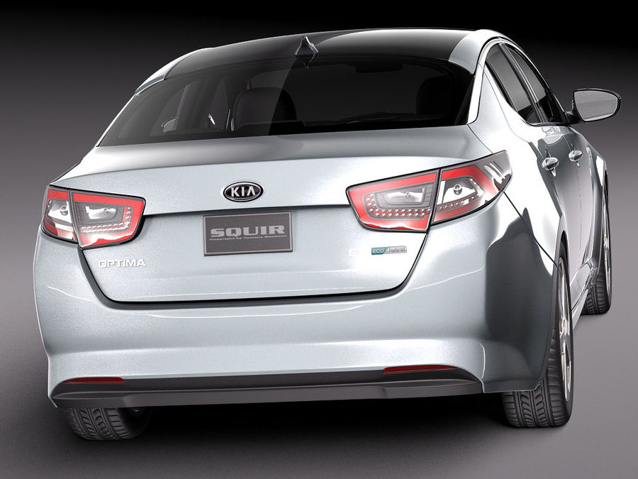 Kia Optima Hybrid 2014 royalty-free 3d model - Preview no. 6