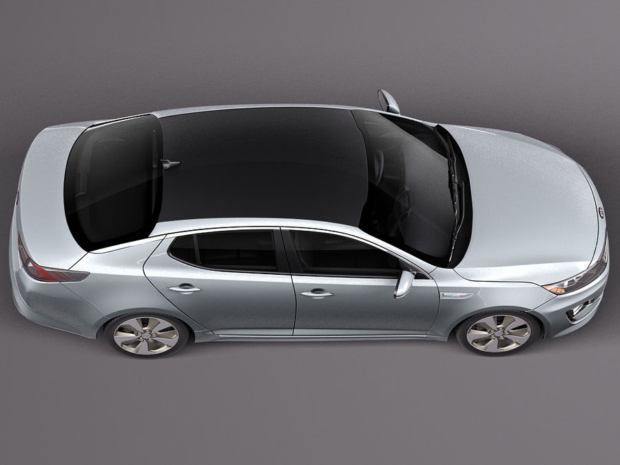 Kia Optima Hybrid 2014 royalty-free 3d model - Preview no. 8