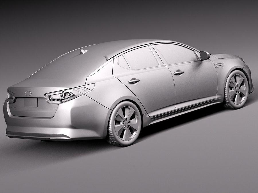 Kia Optima Hybrid 2014 royalty-free 3d model - Preview no. 12