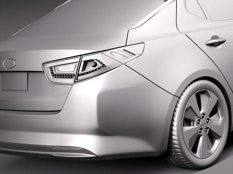Kia Optima Hybrid 2014 royalty-free 3d model - Preview no. 11