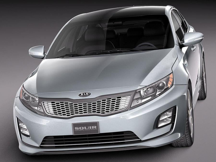 Kia Optima Hybrid 2014 royalty-free 3d model - Preview no. 2
