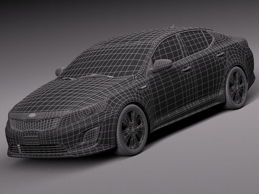 Kia Optima Hybrid 2014 royalty-free 3d model - Preview no. 15