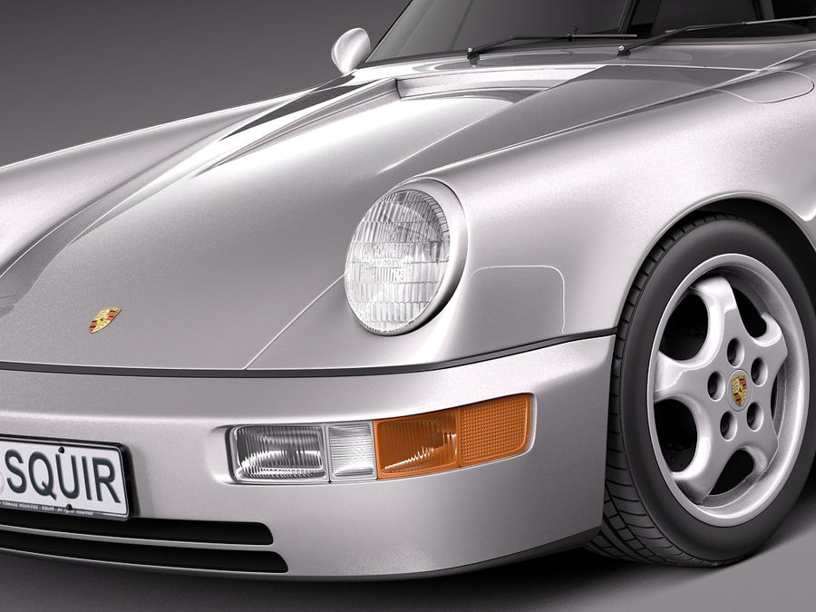 Porsche 911 964 Carrera 1990 royalty-free 3d model - Preview no. 3