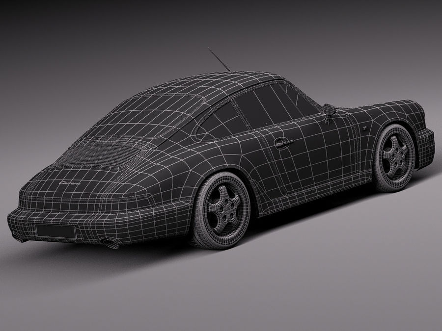 Porsche 911 964 Carrera 1990 royalty-free 3d model - Preview no. 22