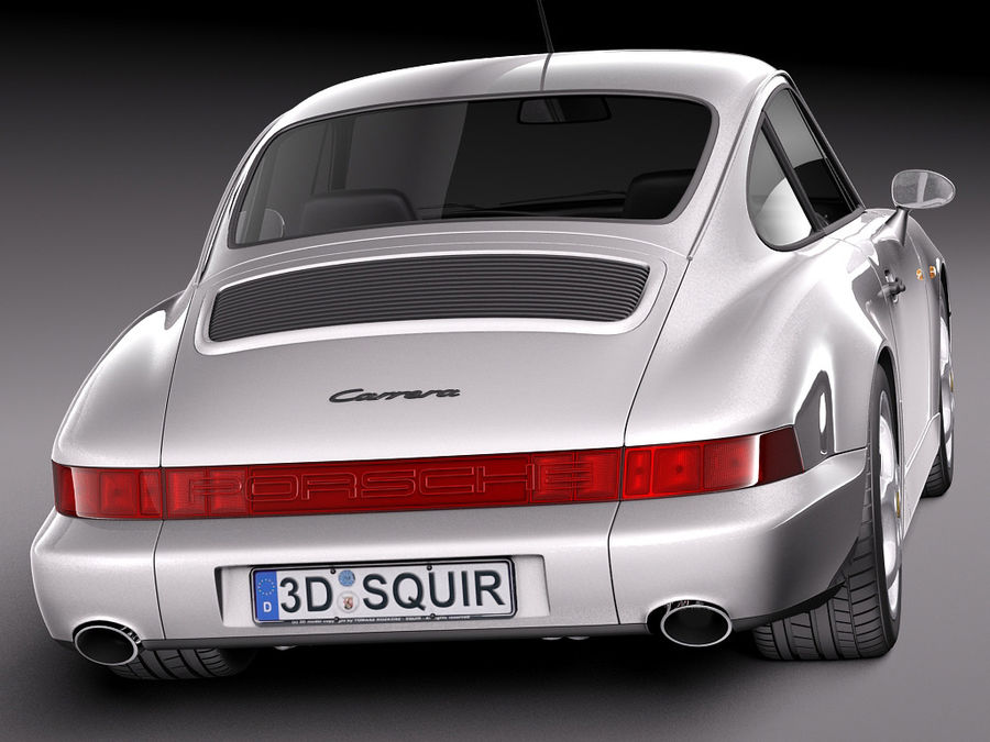 Porsche 911 964 Carrera 1990 royalty-free 3d model - Preview no. 6
