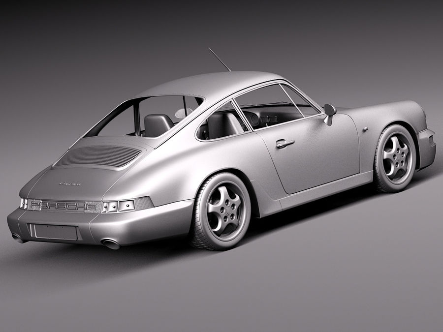 Porsche 911 964 Carrera 1990 royalty-free 3d model - Preview no. 18