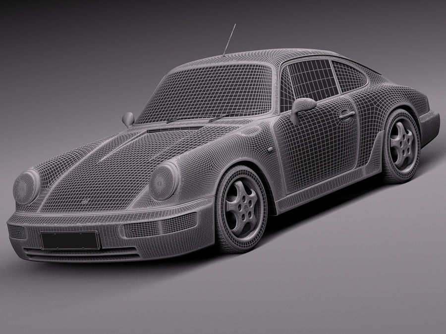 Porsche 911 964 Carrera 1990 royalty-free 3d model - Preview no. 19