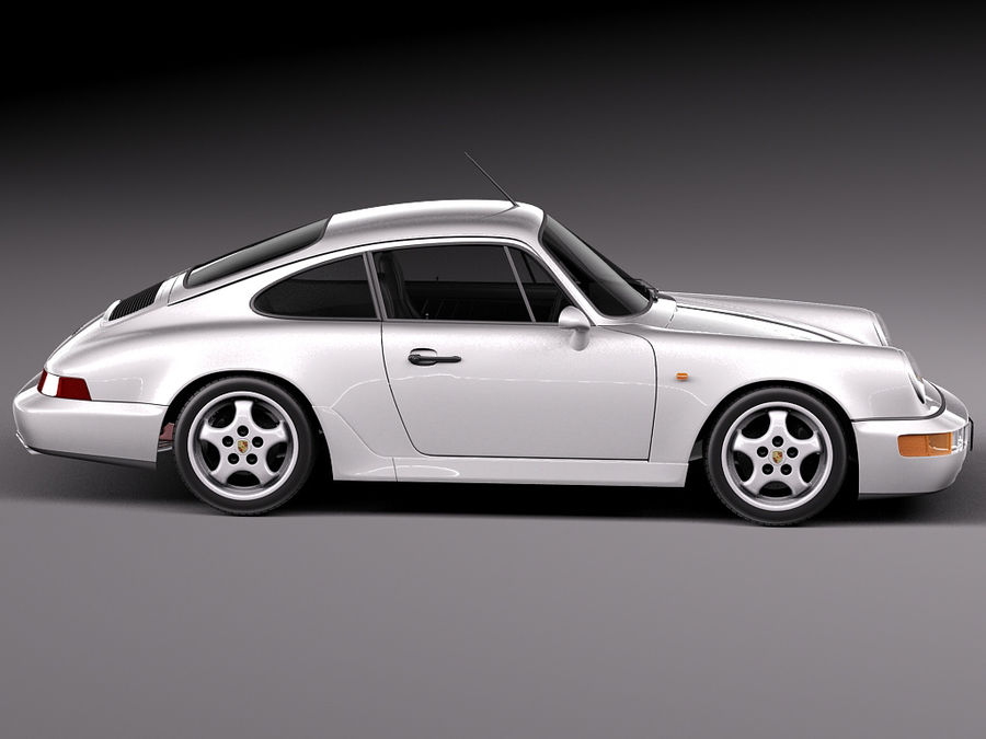 Porsche 911 964 Carrera 1990 royalty-free 3d model - Preview no. 7