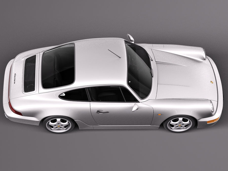 Porsche 911 964 Carrera 1990 royalty-free 3d model - Preview no. 8