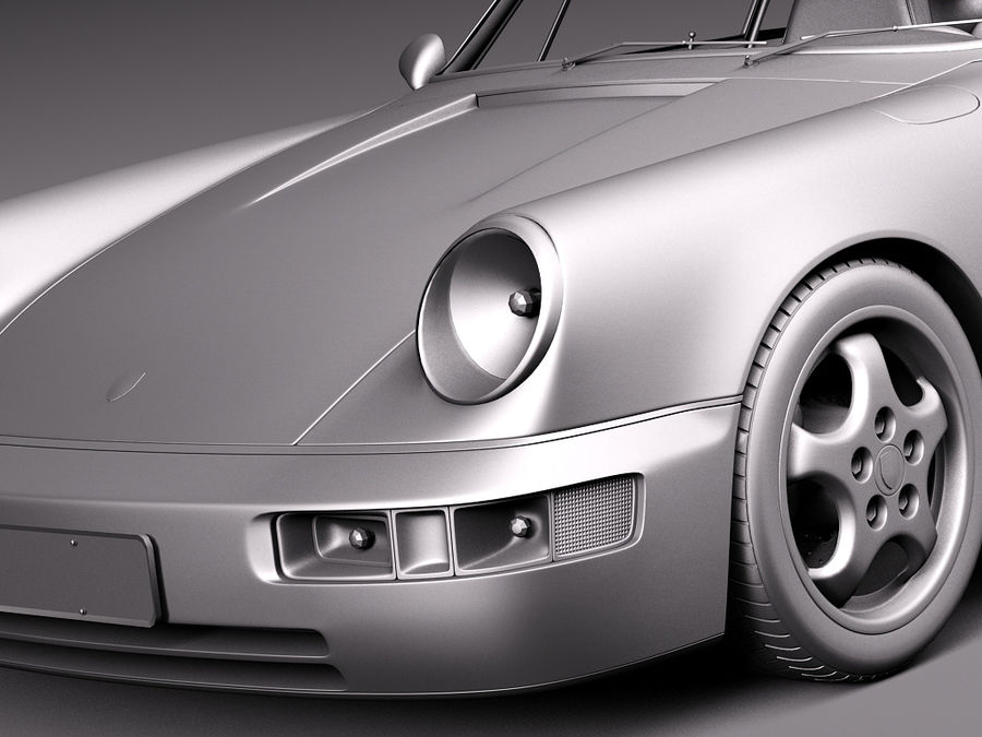 Porsche 911 964 Carrera 1990 royalty-free 3d model - Preview no. 16