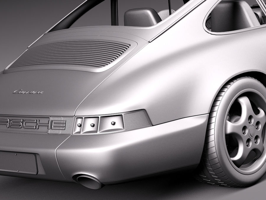 Porsche 911 964 Carrera 1990 royalty-free 3d model - Preview no. 17