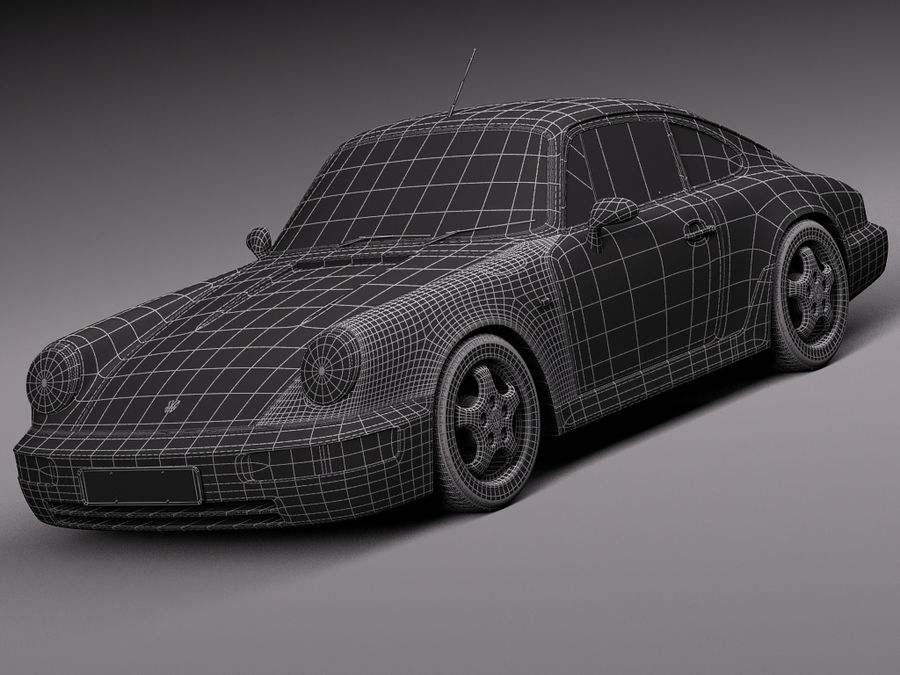 Porsche 911 964 Carrera 1990 royalty-free 3d model - Preview no. 21